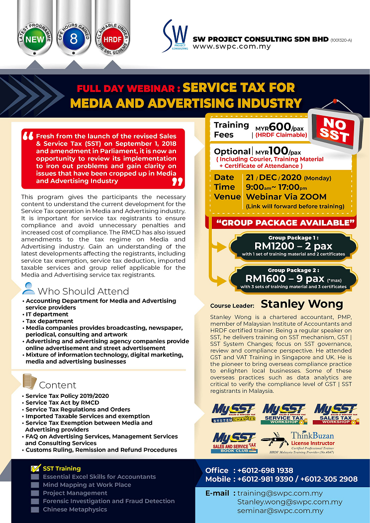 Webinar - Service Tax for Media Industry