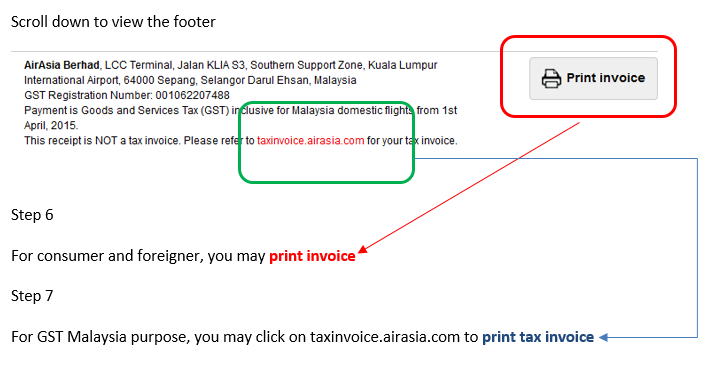 Addon Domain For Air Asia Tax Invoice  How To Print Invoices
