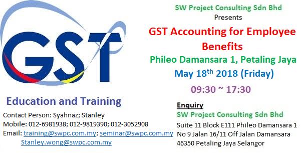 GST Accounting for Employee Benefits
