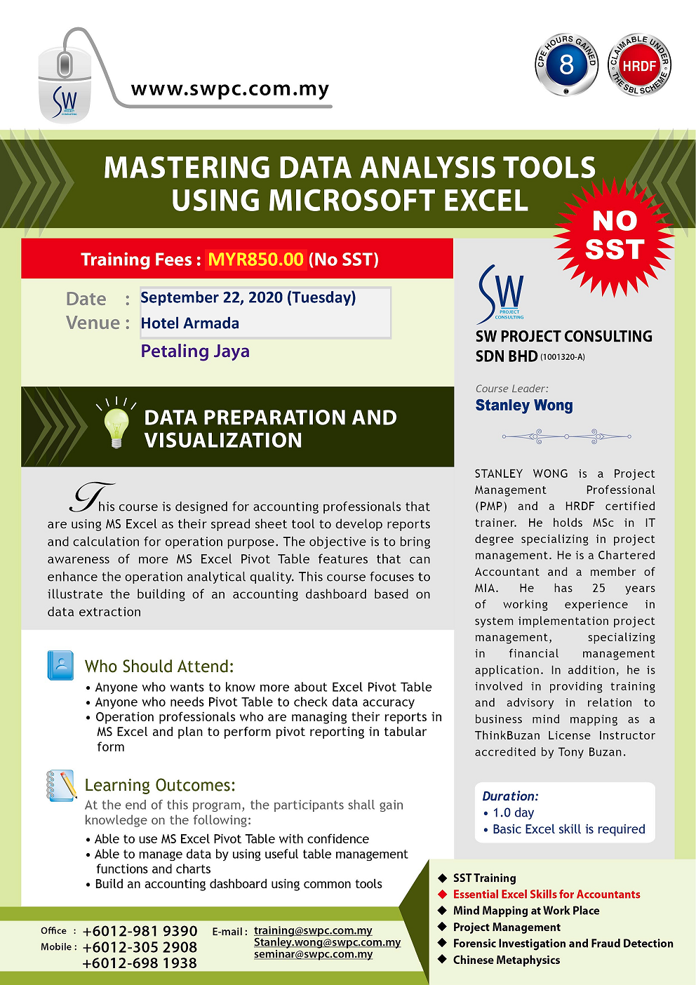 Mastering Data Analysis Tools using Microsoft Excel