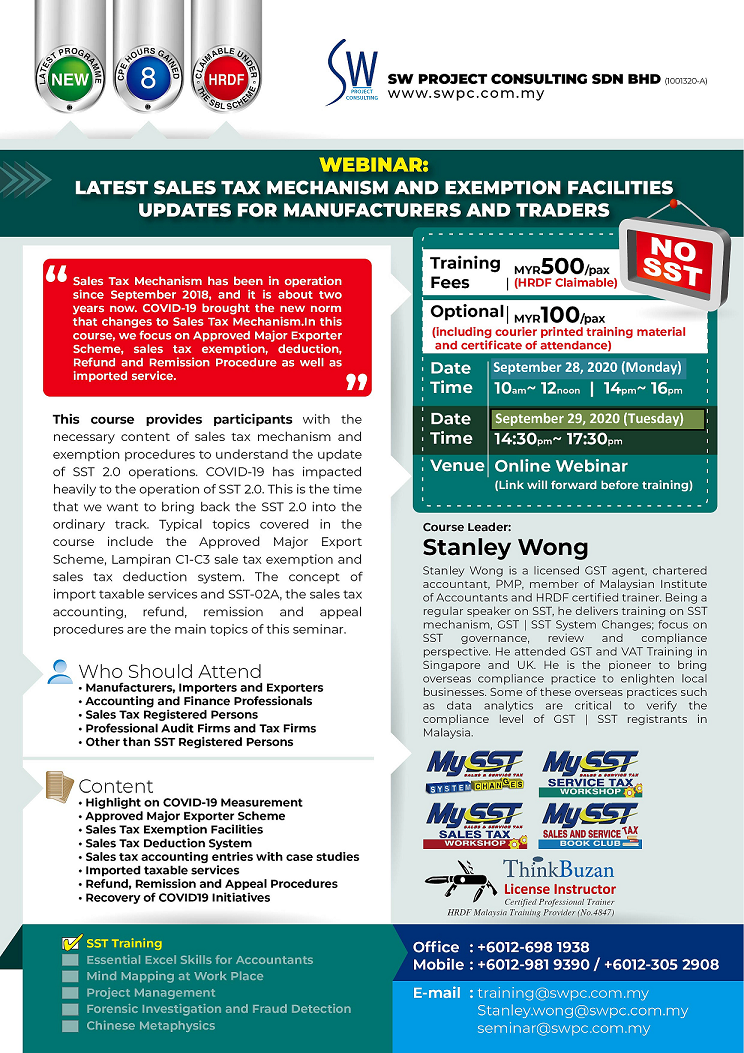 Webinar: Latest Sales Tax Mechanism & Exemption Facilities for Manufacturers and Traders